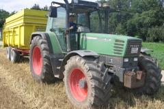 Geflügelhof Ludwig Waiblingen Ernte Traktor Anhänger Gerhard Ludwig
